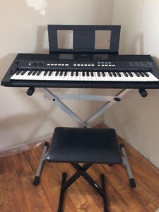 Yamaha PSR-E433 Digital Keyboard With Adjustable Stand and Bench