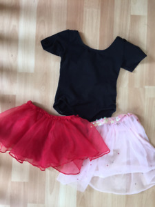 Dancewear - Leotard and skirts - Size 5/6