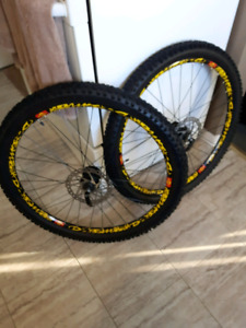 DEORE 26 INCH COMPLETE WHEEL SET (used)