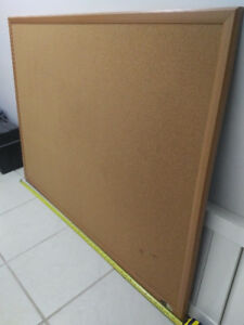 $60 for 4ft oak wooden cork bulletin board