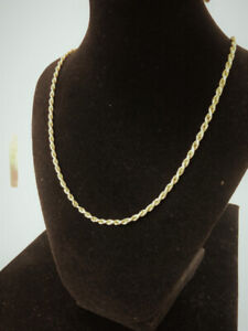 10k 22 inch GOLD Rope Chain