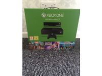 Xbox one 500gb /go+Kinect and 3 games brand new and sealed