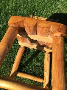 Natural wood rustic dinning table 6 chair  Stratford Kitchener Area image 3