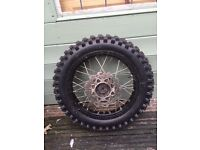 Crosser/pit bike wheel