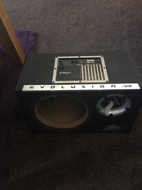 Vibe 10 inch subwoofer enclosure with amp.