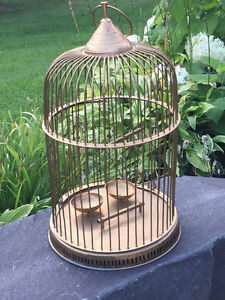Solid Brass Vintage Bird Cage