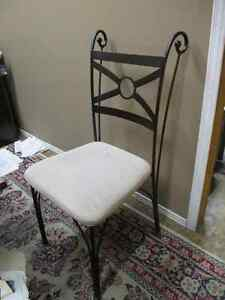 wrought iron upholstered dining kitchen chairs Kitchener / Waterloo Kitchener Area image 1