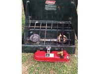 Coleman Twin Burner Petrol Powered Stove Ideal Land-rover Expiditions