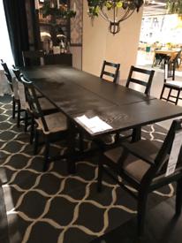 IKEA Sheffield NORDVIKEN Extendable table, black, 210/289x105 cm. #bar