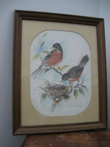 Vintage Paul Whitney Hunter framed prints