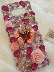Samsung S8+ diamond flower phone case