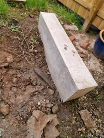 Cast concrete step