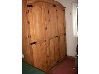 Peurta Rica Solid Pine, Triple , 3 Door Wardrobe