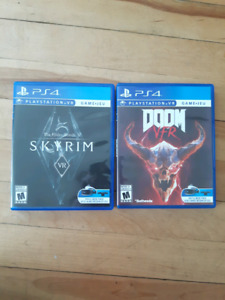 Playstation VR games.