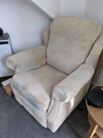 Single Seat Beige Armchair