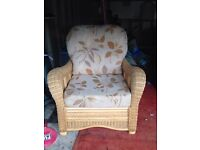 Wicker conservatory chair.