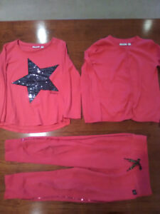 Mexx size 5 sweatpant, sequin T-shirt and cardigan sweater