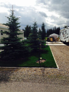 Coyote Creek lot for rent, RV and Golf Resort Sundre