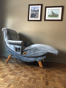Vintage Ergonomic Contour Lounge Chair-Recliner