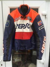 Repsol Honda Leather Motorcycle jacket