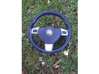 Astra h Sri 2007 leather steering wheel with air bag good condition 07594145438