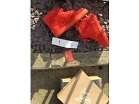 CHRISTIAN LOUBOUTIN RED POPPY SPIKES UK SIZE 6/7/8 AVAILABLE BRAND NEW