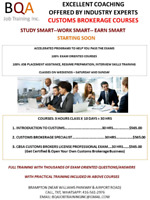 CUSTOMS COURSES IN 4 WEEKENDS & GET JOB READY