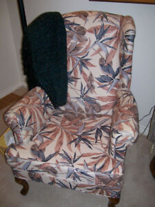 Pair of wing back chairs, good used condition