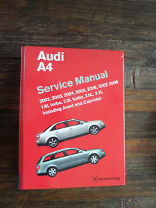 AUDI A4 SERVICE MANUAL [model years 2002-2008]