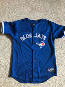 Authentic Brett Lawrie Blue Jays Jersey - youth medium