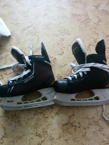 Two pairs of skate for sale.