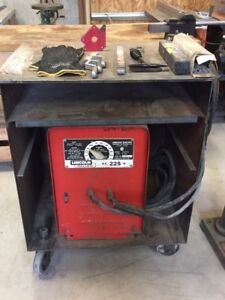 Lincoln Arc Welder with Cabinet and Extras