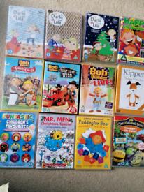 DVDs/ bob the builder/Charlie and Lola/ chuggington etc