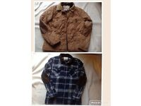 2 items ladies clothes jacket & winter shirt size: S used £3