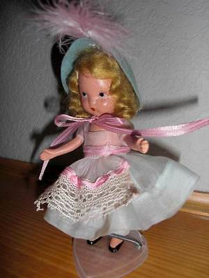 Vintage Nancy Ann Storybook Doll ~ #130 Dainty Dolly Pink & Blue Bisque