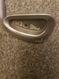 Ping isi8 iron & ping eye2 lob wedge.