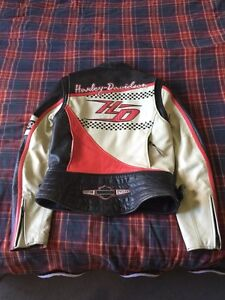 Lady's small Harley riding gear