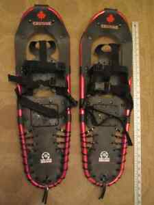 2 Pairs of Snowshoes-1 red, 1 blue Cambridge Kitchener Area image 1