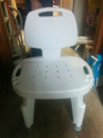 Adjustable bath/shower chair-barely used.