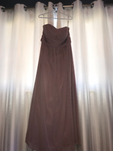 Blush Floor Length Dress for Wedding, Size 16