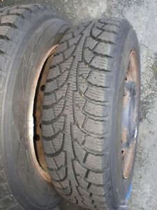 Winter Tires with rims. Lots of tread. 175/65R14