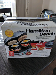 Hamilton Beach Dual Breakfast sandwich maker for sale