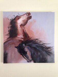 Horse Abstract Oil Painting on Canvas