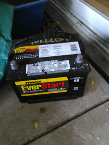 Small truck battery.  Used for six Months