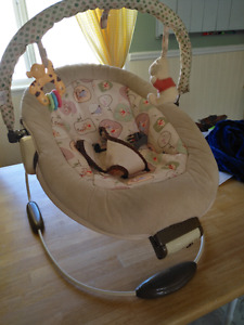 Baby bouncy chair with vibration
