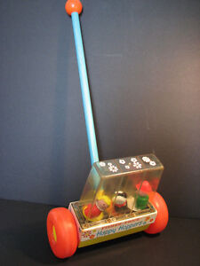 """Vintage Fisher Price Little People """"Happy Hoppers"""" 121 1969 toy"""