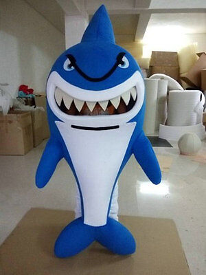 Cute Blue Animal Whale Shark Mascot Costume Material Fancy Dress Adult Cosplay - Cute Shark Costume