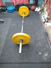 2 X 15 kg yellow Olympic weightlifting disc plat!No barbell included!!