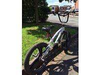 "Silver BMX 20"" bike"