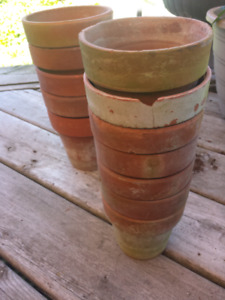 12 clay pots